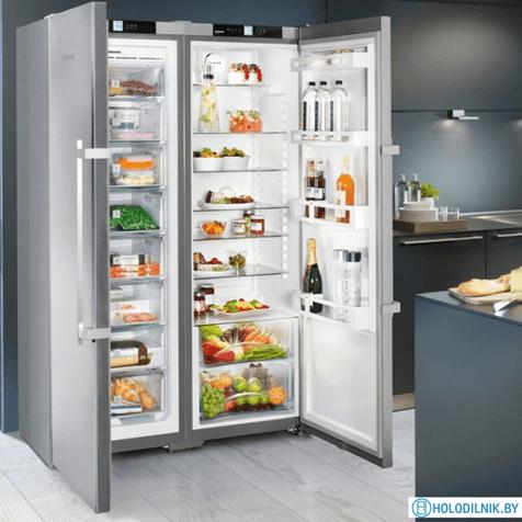 Комбинация side by side Liebherr SBSef 7242 - холодильник в интерьере